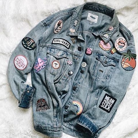 Love @thugnanny_ 's DIY denim game Shop TONS of new pins + patches to spice up your denim/leather!
