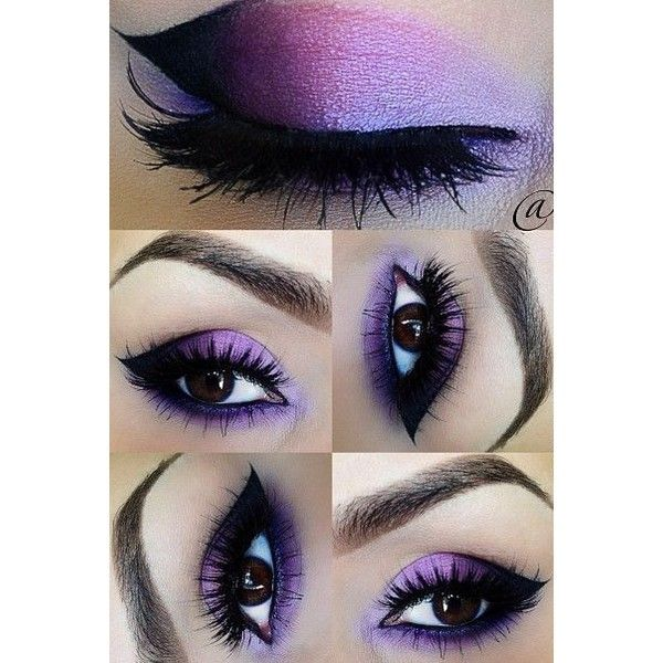 So Pretty Purple Eye Makeup for Prom ❤ liked on Polyvore featuring beauty products, makeup and eye makeup