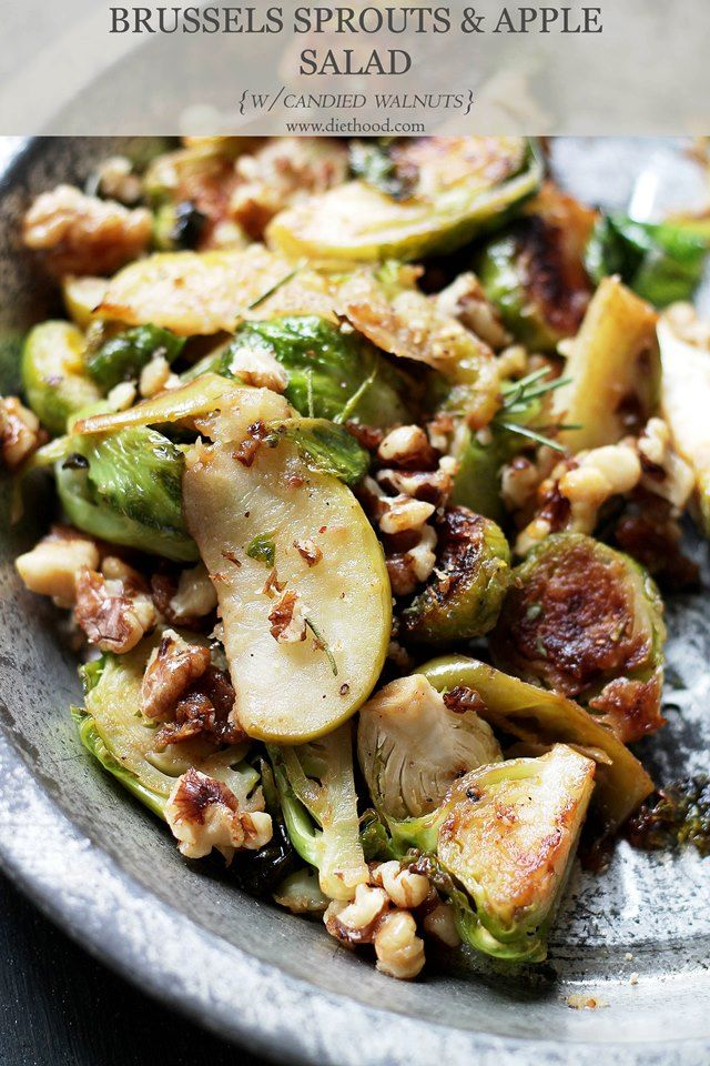 Recipe Side Dishes Brussels Sprouts Apples Salad