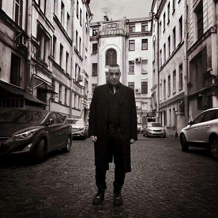 Till Lindemann i st Petersburg 2017.