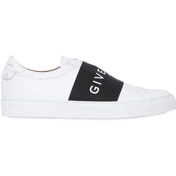 Givenchy Men Urban Street Leather Slip-on Sneakers ($695) ❤ liked on Polyvore featuring men's fashion, men's shoes, men's sneakers, givenchy mens shoes, mens sneakers, mens slip on sneakers, mens rubber sole shoes and mens slip on shoes
