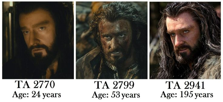 Thorin barely ages... <- No, he ages..... MAJESTICALLY!
