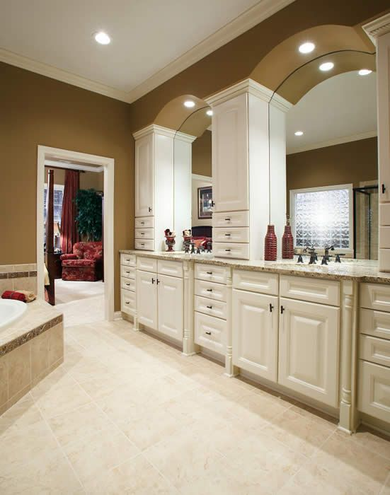 Antique White Bathroom Cabinets beautiful traditional bathroom with aristokraft cabinets