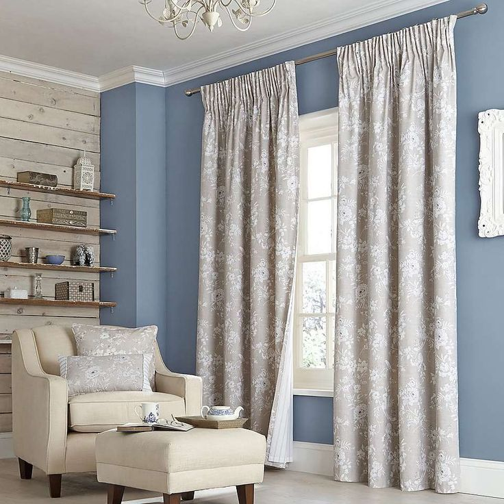 Natural Chateau Lined Pencil Pleat Curtain Collection