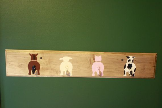 Farm Animal Coat Hook/Hanger/Shelf by CCraftyCCreations on Etsy