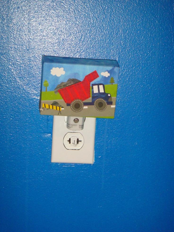 Construction Lamps For Boys : Construction night light for little boys room ideas