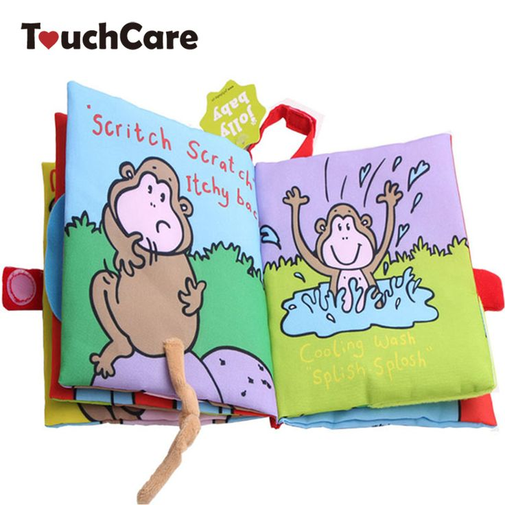 Animal Style Monkey Newborn Baby Toys Learning Educational Baby Cloth Books Cute Baby Ratteles Mobiles Juguetes Bebe Para Bebe