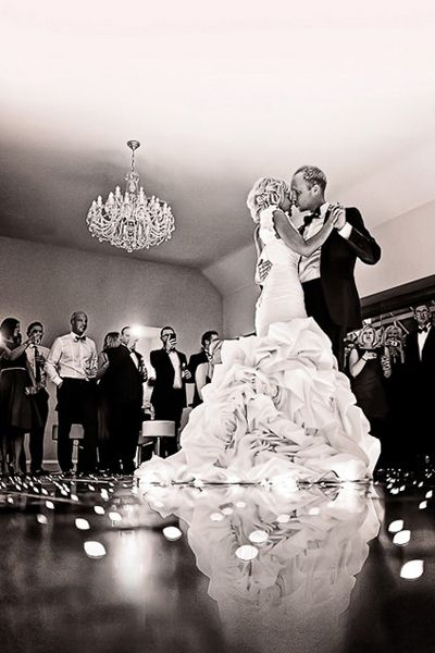 A low angle during your first dance...and 75 other must have shots
