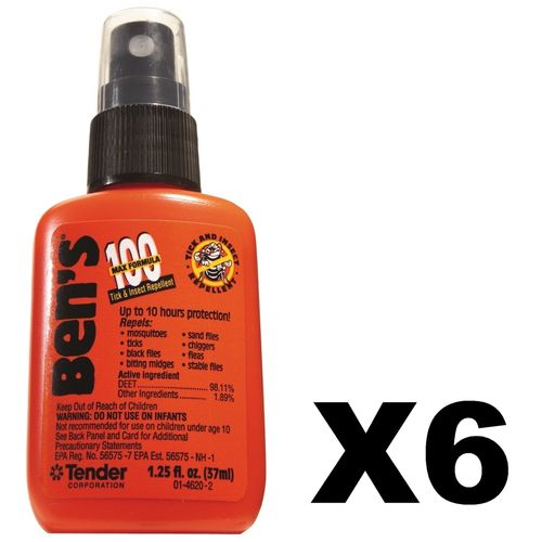 Adventure Medical Kits Ben's 100 Tick & Insect Repellent 1.25 oz Pump (Pack of 6)