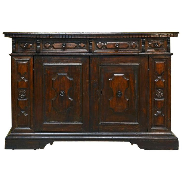 Italian 17th 18th Century Richly Carved Baroque Walnut Credenza or Server   Furniture StorageCredenzaAntique. 124 best Antique Furniture images on Pinterest   Antique furniture