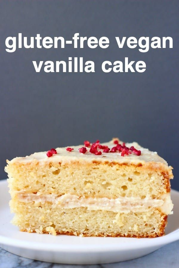 This Gluten Free Vegan Vanilla Cake Is Moist And Fluffy