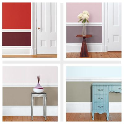 Four Paint Schemes For Two Tone Rooms