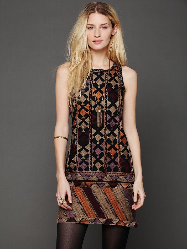 Free People Phulkari Embroidered Shift Dress at Free People Clothing Boutique