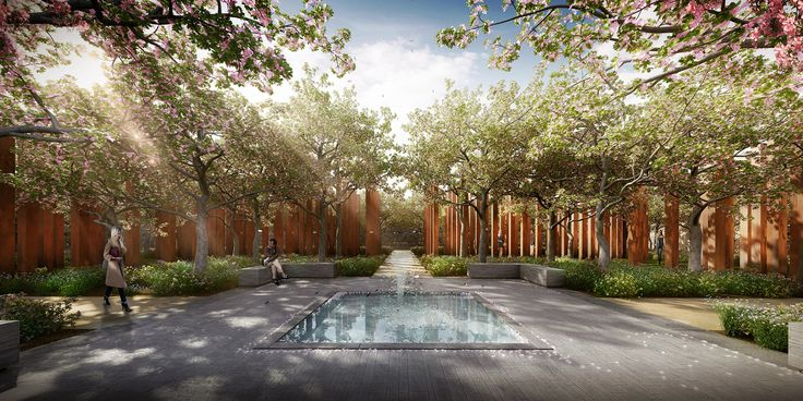 Image 1 of 14 from gallery of CHROFI and McGregor Coxall Propose a Woodland Cemetery Without Headstones. Courtesy of CHROFI