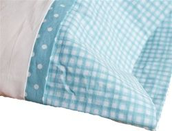 """Organic cotton Gingham Toddler Pillow Cases by Organic Quilt Company ~ hand made in Canada ~ 2 colours, 17""""x 23"""", $23.95"""