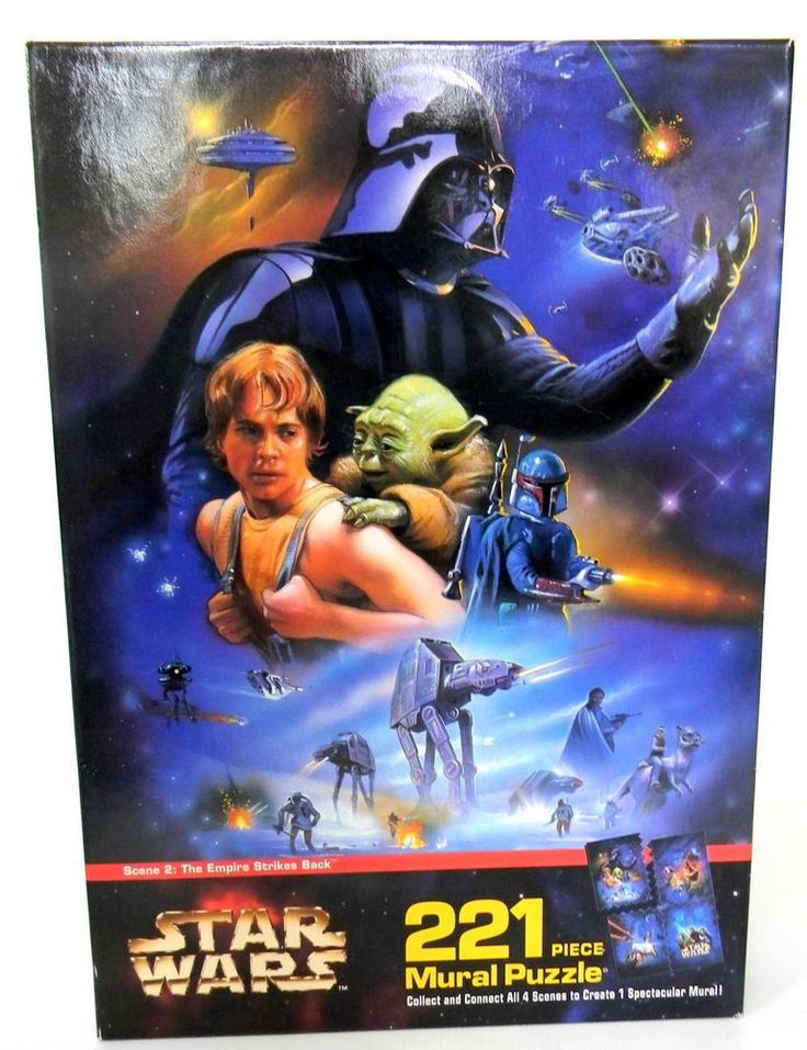 Milton Bradley Puzzle Star Wars The Empire Strikes Back 221 Pcs Mural 12 x 16  #MiltonBradley