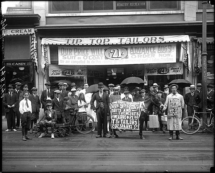 tip top talors, sparks st. ottawa 1919