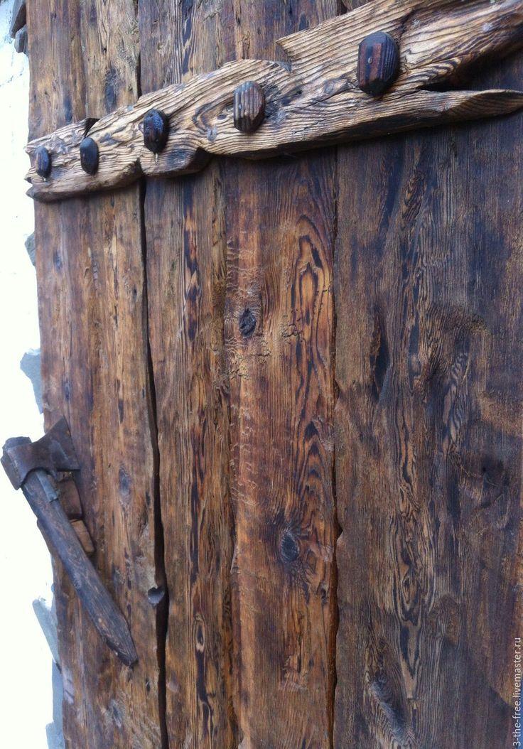 Купить Накладка на дверь - старое дерево, имитация, массив дерева, дачный декор, дверь