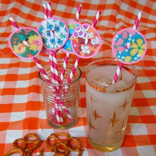 DIY party straws: Kids Parties, Straws Decor, Decor Straws, Parties Ideasfavor, Parties Straws, Podge Rocks, Parties Time, Plays Parties, Baby Shower