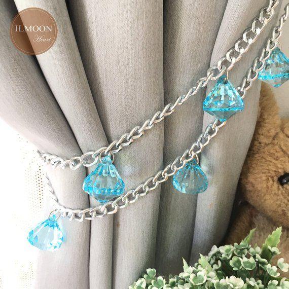 Pair X2 Nursery Curtain Tie Backs Curtain Tiebacks Frozen