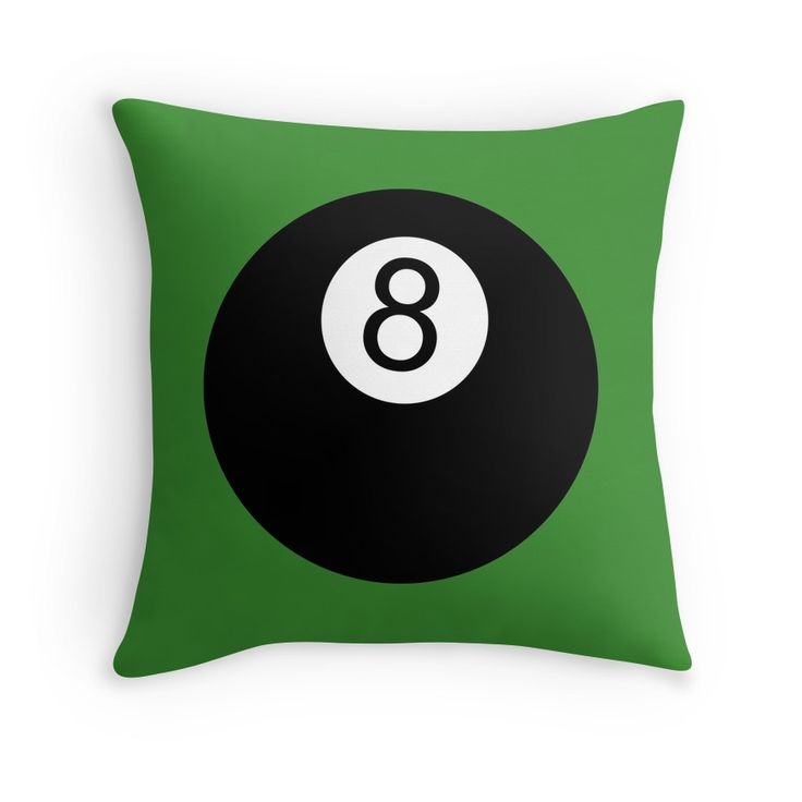Love playing pool? Then you will love this 8 Ball throw pillow.
