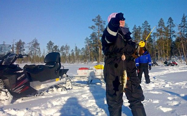 Ice Fishing Adventure on Lake Inari