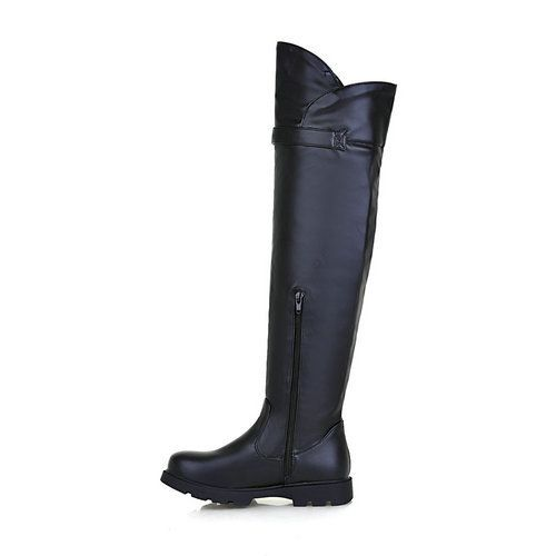 Autumn and winter boots Round Toe pu High Heels Over the knee motorcycle boots for women high heels platform shoes-in Boots from Shoes on Aliexpress.com | Alibaba Group
