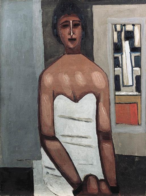 Jerzy Nowosielski | Kobieta w białej sukni, ca 1964-65 | oil on canvas