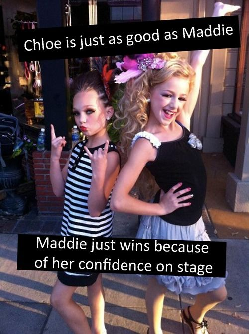 True but chloe does have confidence when she goes on stage sometimes