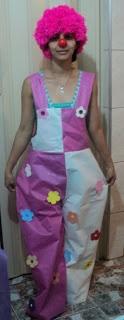 Blog da Criança!!!: Roupa de Palhaço de TNT