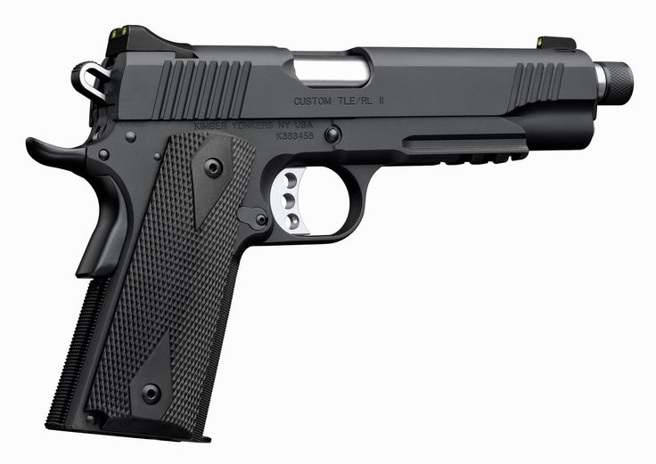 Sometimes, you can improve upon a good thing. Here's a Kimber Custom TLE/RL II 1911, which adds a threaded barrel, night sights and accessory rail to upgrade a classic