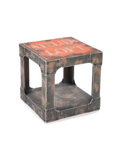 moes home collection 158 inch loft group side table orange by moes home collection - Table Atelier Loft