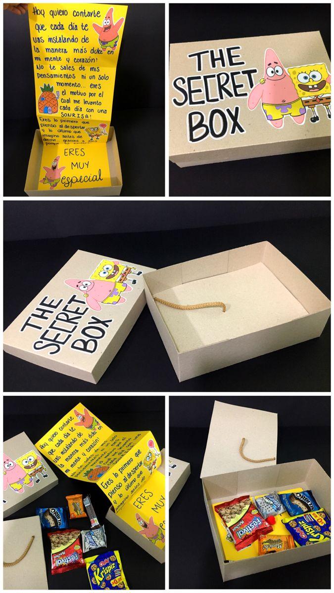 Caja Secreta De Bob Esponja Regalos De Cumpleaños Para Mejor Amigo Regalos Creativos Regalos Creativos Para Novio