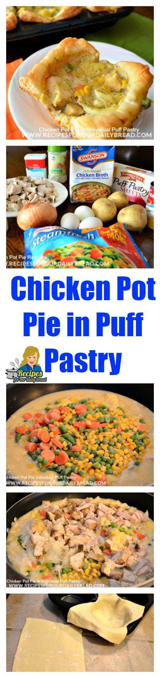 Chicken Pot Pie in Puff Pastry