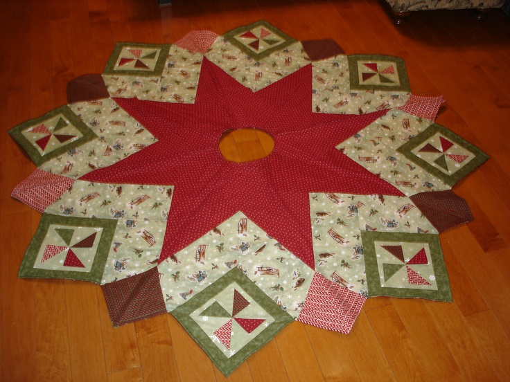 Quilted Christmas Tree Skirt For My Daughter
