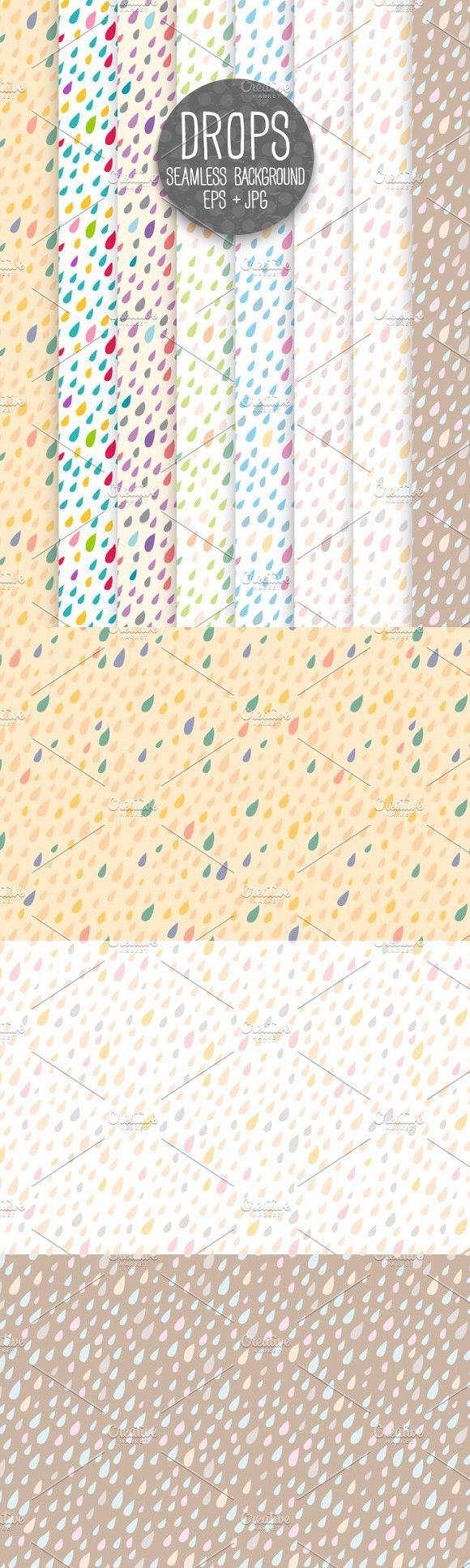 DROPS. Seamless background.. Patterns. $4.00