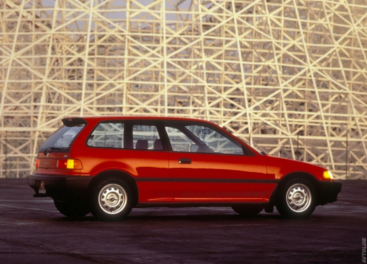 1988 Honda Civic  Gave this car to Beth, after we drove it for 5 years