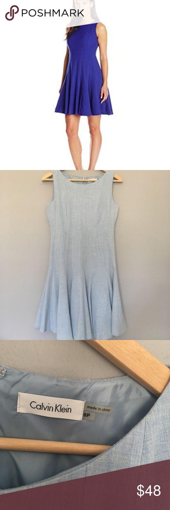 Calvin Klein baby blue dress Excellent condition. Size 6 petite. Calvin Klein Dresses