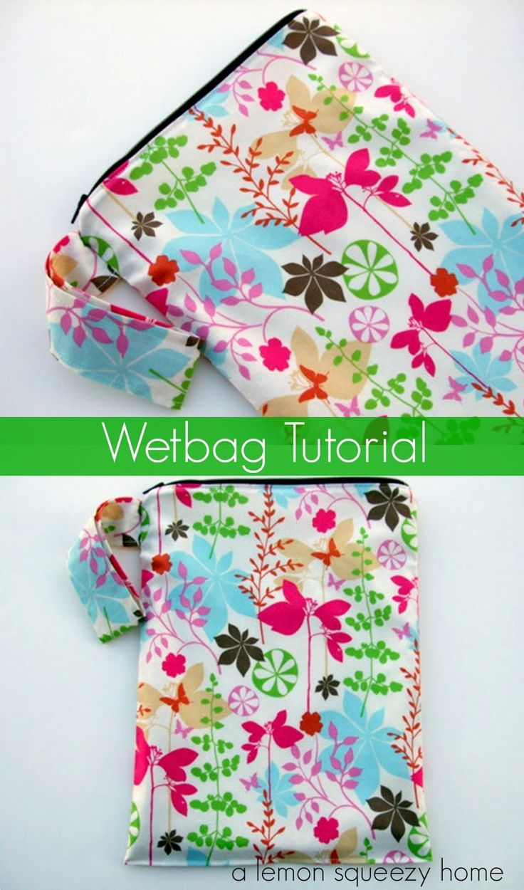 Wetbag Tutorial // a lemon squeezy home.  Not just for cloth diapers!  Great for the pool and to hold anything else that gets wet while you are out and about!