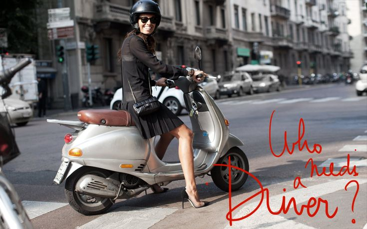 I can't stand how stylish this woman is on her moped! Italian, of course. But still not as adorable as the father taking his little girl to kindergarten (who I saw in a small village in France many years ago.)