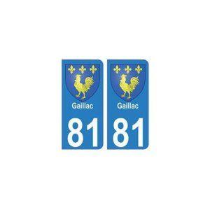 81 Gaillac blason autocollant plaque stickers ville – droits