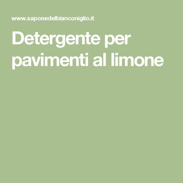 Detergente per pavimenti al limone