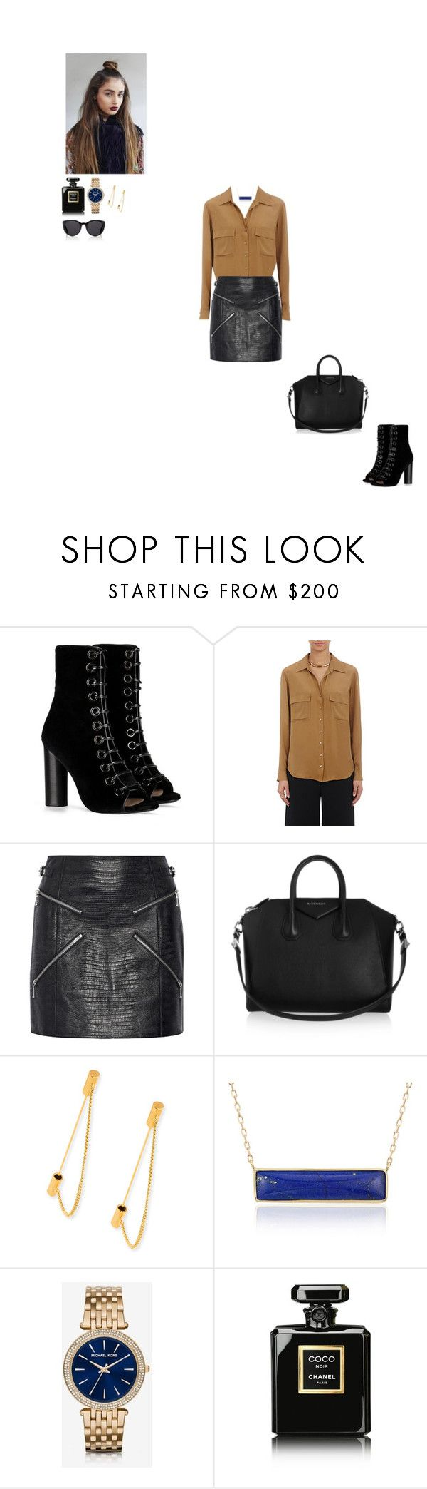 """""""cobalt"""" by lavenderblush ❤ liked on Polyvore featuring Barbara Bui, L'Agence, Alexander Wang, Givenchy, Balenciaga, Blue Nile, Michael Kors, Chanel and Finlay & Co."""