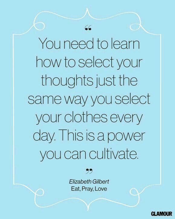Thoughts are the precursors to our decisions which cause our actions and create the results we see in our lives; take control of your thinking!