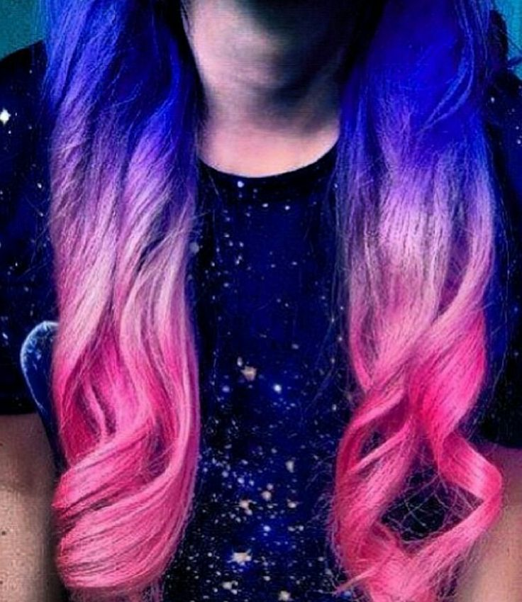 Blue And Pink Ombre Hair Color