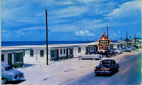 Peeks Beach motel, Panama City Beach, Florida. postcard 1950's