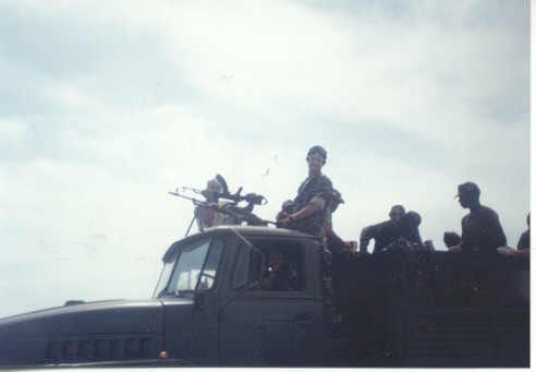 EXECUTIVE OUTCOMES 1994 JANUARY. CONVOY PROTECTION BETWEEN CABO LEDO BASE AND LONGA TRAINING BASE.