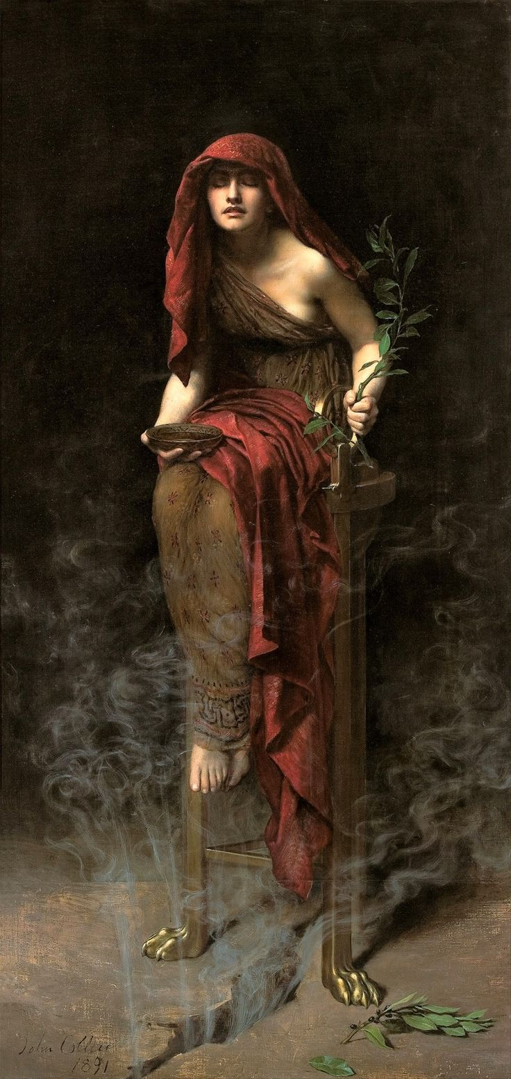 "silenceforthesoul: "" John Collier - The Priestess of Delphi, 1891 """