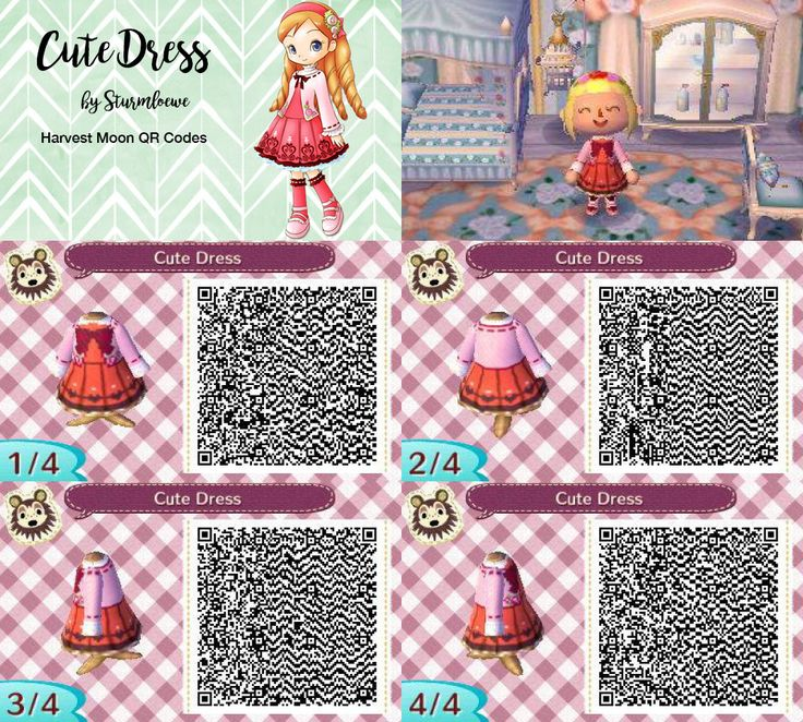 Harvest Moon Katies Cute Dress For Animal Crossing New