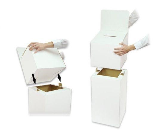Cardboard Ballot Box - Large Freestanding